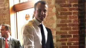 French President Emmanuel Macron Ate Tater Tots at Tonic in Foggy Bottom