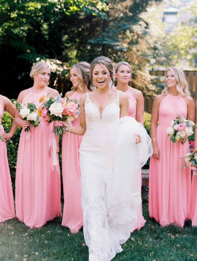 Jenna and Ben Bubblegum Pink Wedding | Renee Hollingshead USNA-