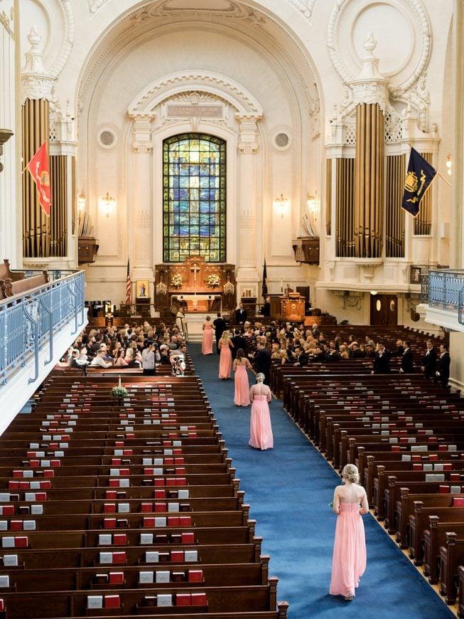 Jenna and Ben Bubblegum Pink Wedding | Renee Hollingshead USNA-15