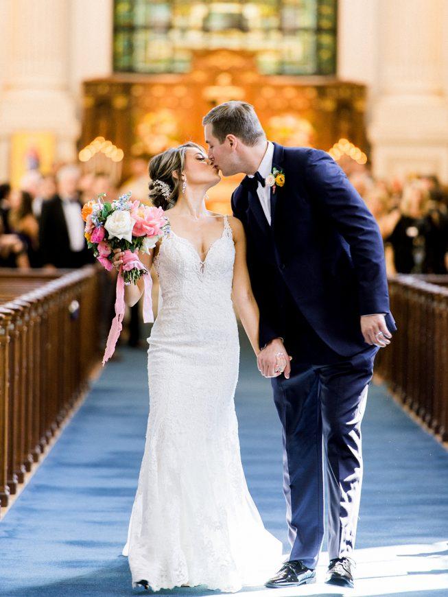 Jenna and Ben Bubblegum Pink Wedding | Renee Hollingshead USNA-17