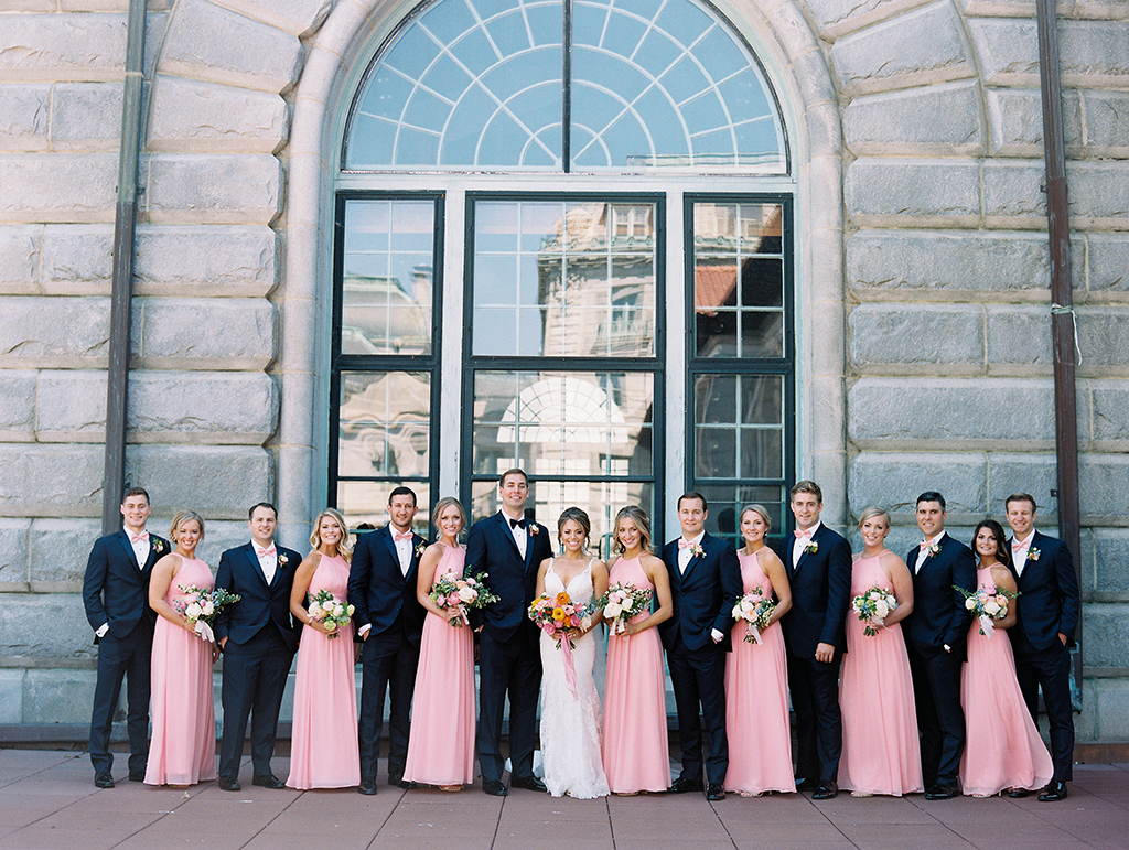 Bubblegum pink bridesmaids dresses added a burst of color to this bubblegum pink wedding maryland maryland wedding annapolis wedding ball room wedding hotel junglespirit Image collections