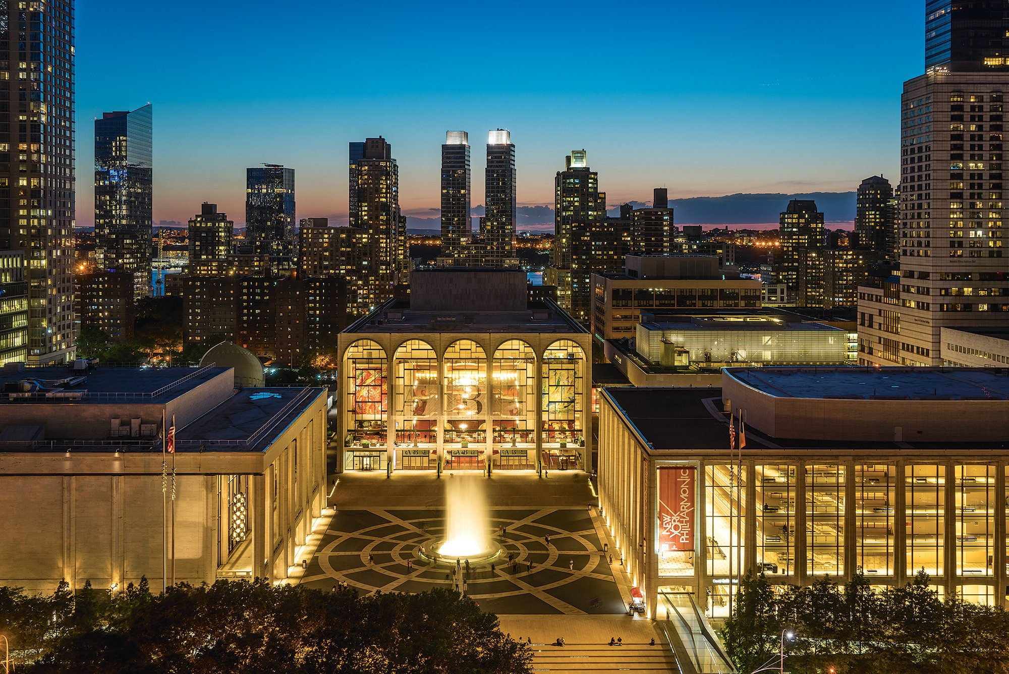 Lincoln Center hosts free concerts.