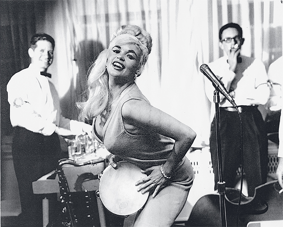 Carchedi, who's had a 42-year run at Washington's elite University Club, once backed actress Jayne Mansfield (above). Photograph courtesy of Art Carchedi.