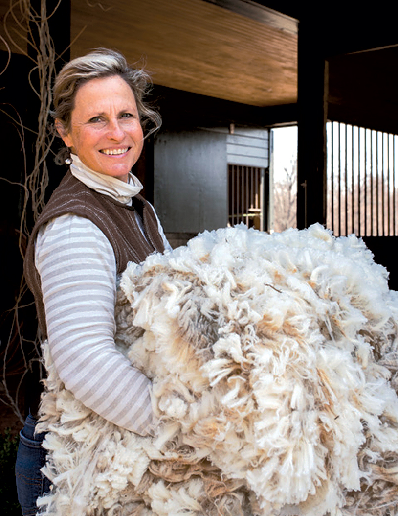 Franny Kansteiner, sole proprietor of Gum Tree Farm Designs in Loudon County. Photograph by Missy Janes.