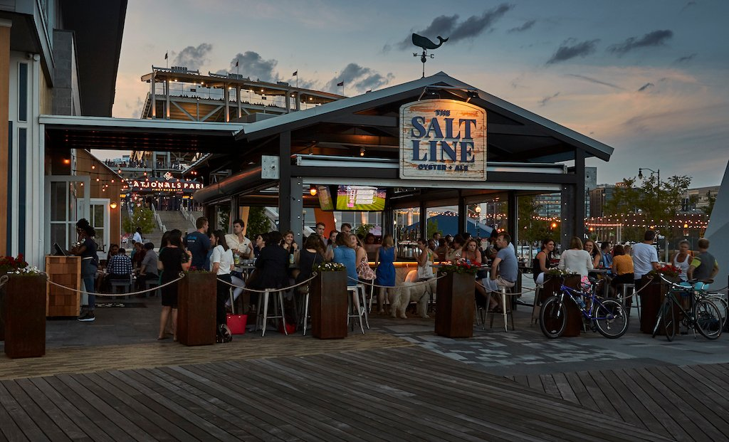Best restaurants bars patios around Nationals Park DC Navy Yard.
