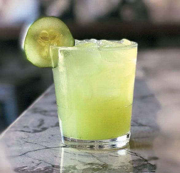 Photograph of Cucumber-Jalapeño Margarita courtesy of Gringos & Mariachis.