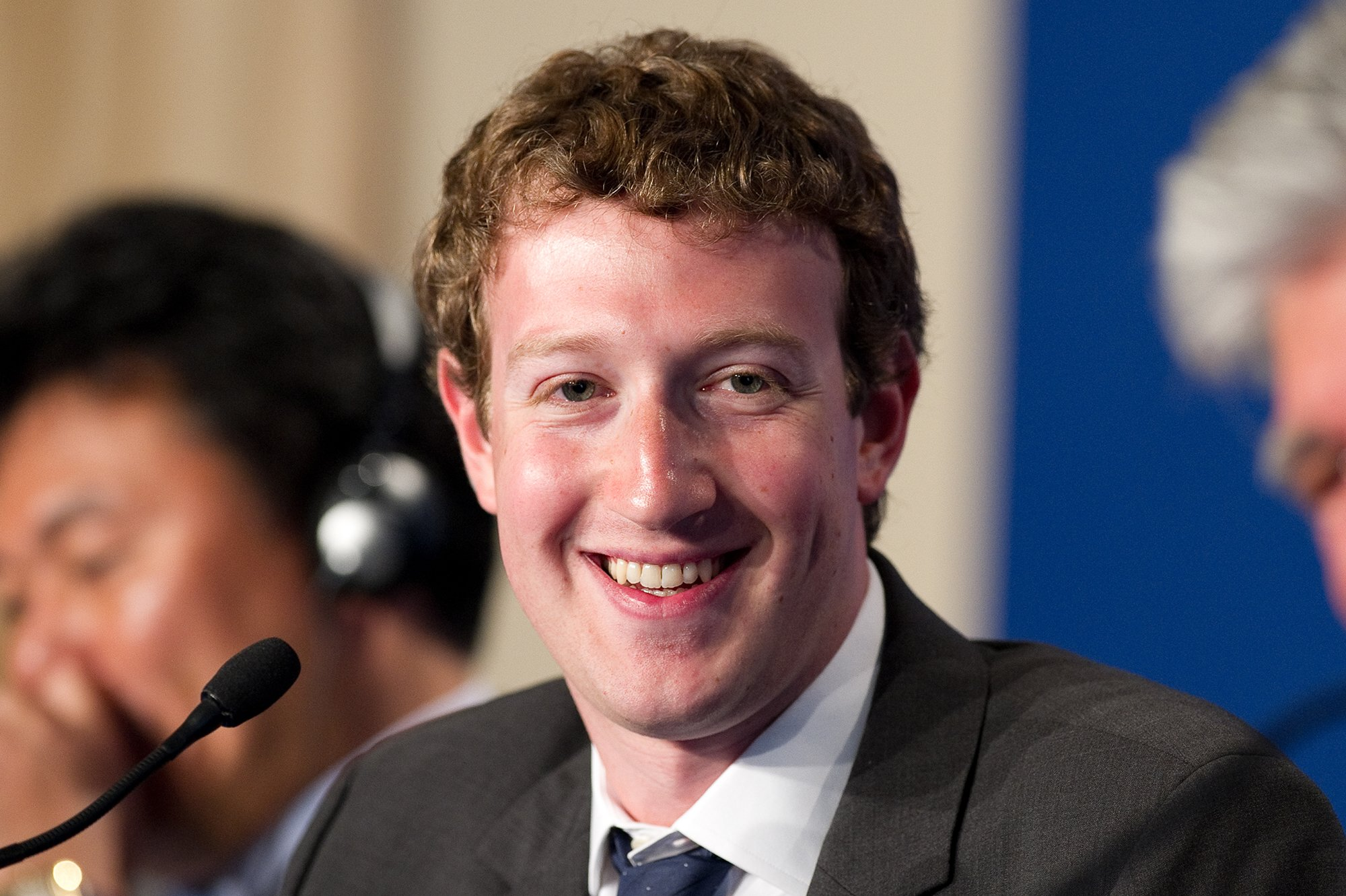Facebook CEO Mark Zuckerberg participates to a conference about web technologies during the French G8 in 2011. Photograph via iStock.