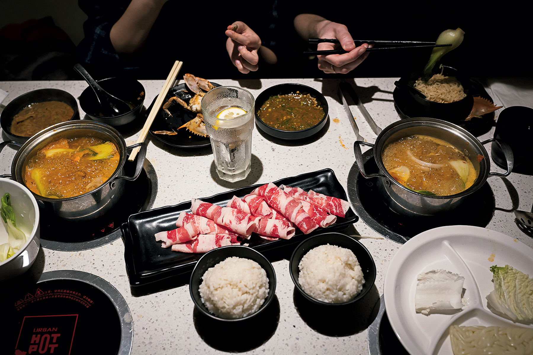 Build-your-own soups at Urban Hot Pot. Photograph by Scott Suchman.