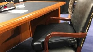 Mark Zuckerberg's Chair on Capitol Hill Has a Nice Big Extra Cushion