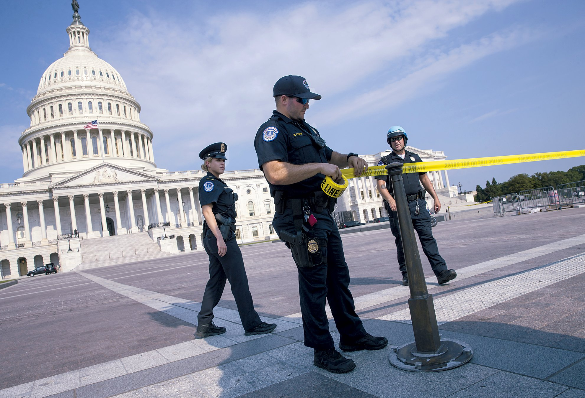 After the shooting, members returned to the Capitol to get back to work. Photograph of Capitol by Eric Thayer/Bloomberg via Getty Images.