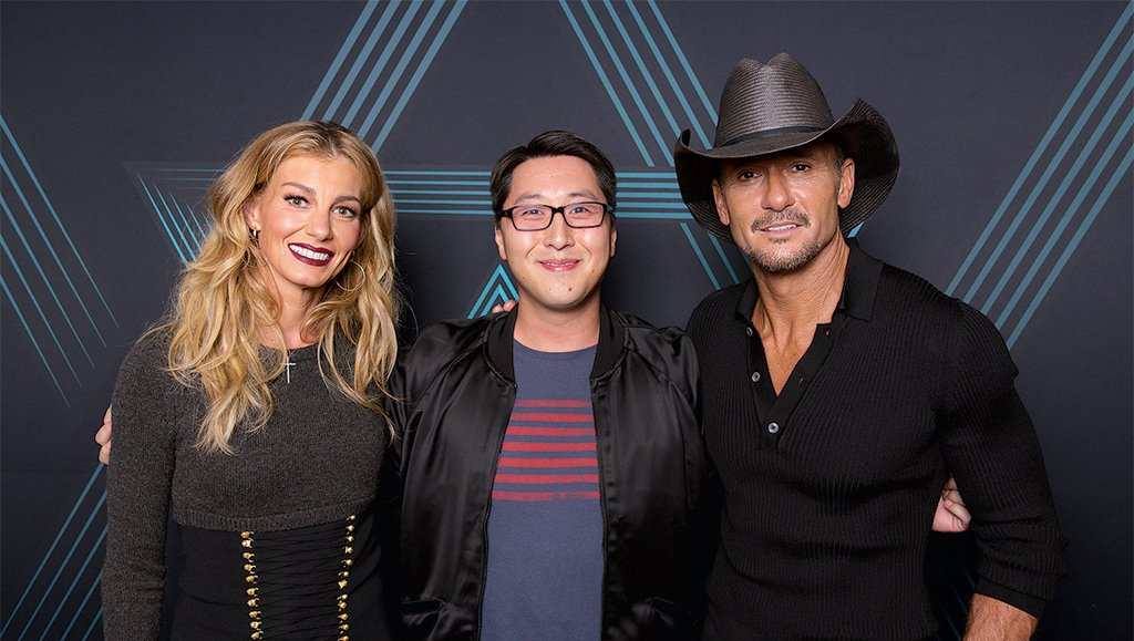 Bardella with Faith Hill and Tim McGraw last winter. Photograph courtesy of Kurt Bardella.