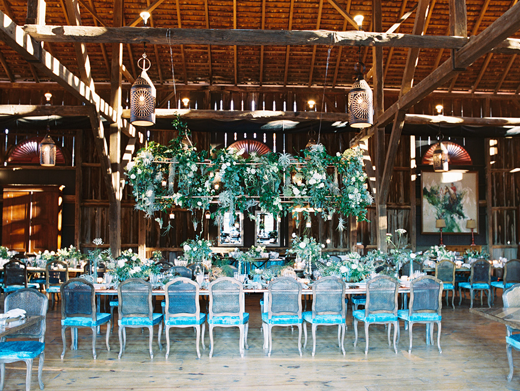 botanical wedding leesburg virginia blue velvet hanging succulents
