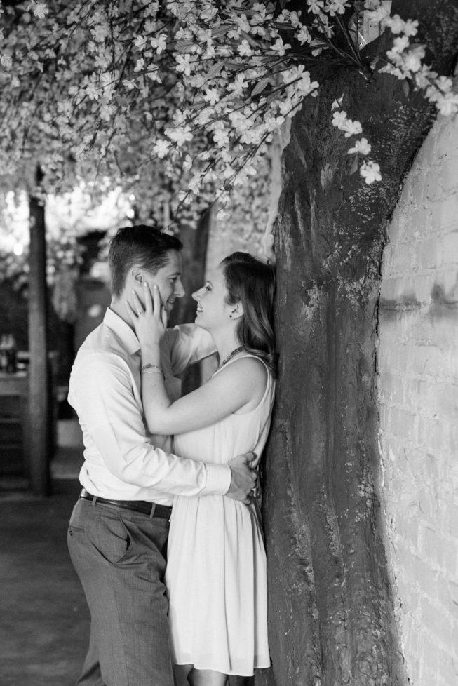 Cherry Blossom Pop-Up Bar Engagement Shoot | Melissa Batman-123