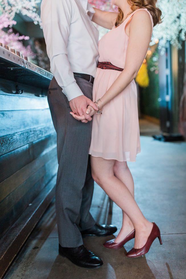 Cherry Blossom Pop-Up Bar Engagement Shoot | Melissa Batman13