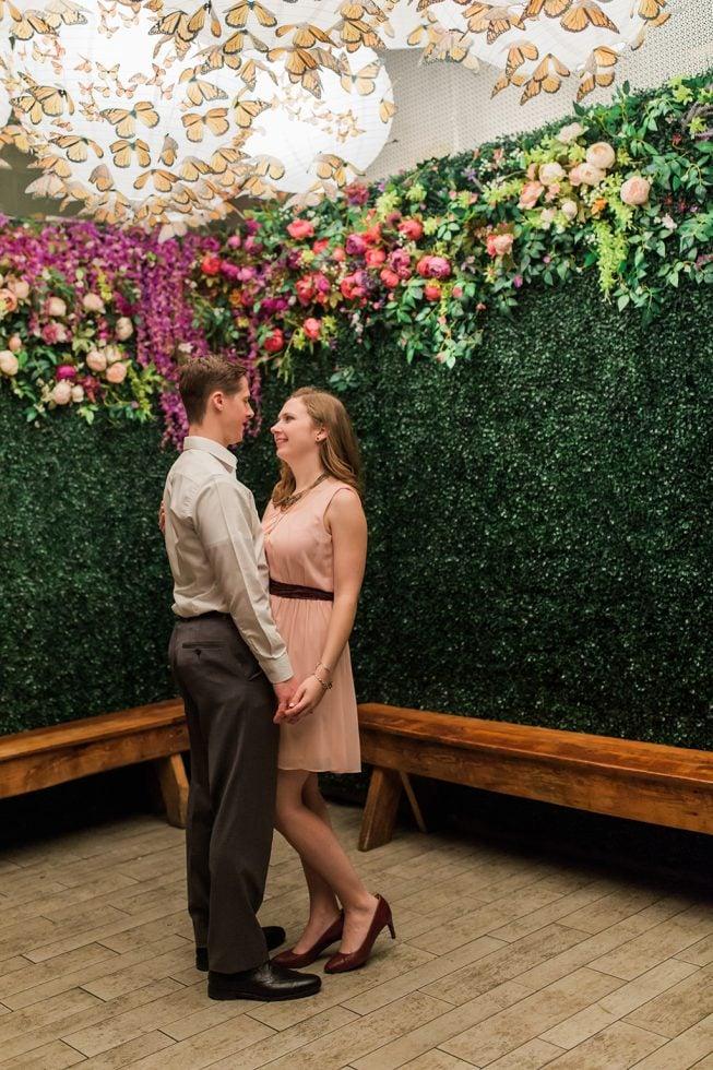 Cherry Blossom Pop-Up Bar Engagement Shoot | Melissa Batman20