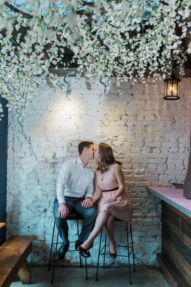 Cherry Blossom Pop-Up Bar Engagement Shoot | Melissa Batman7
