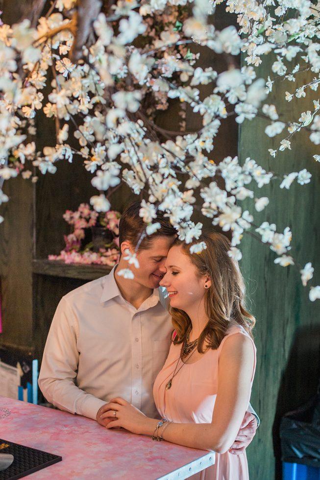 Cherry Blossom Pop-Up Bar Engagement Shoot | Melissa Batman8