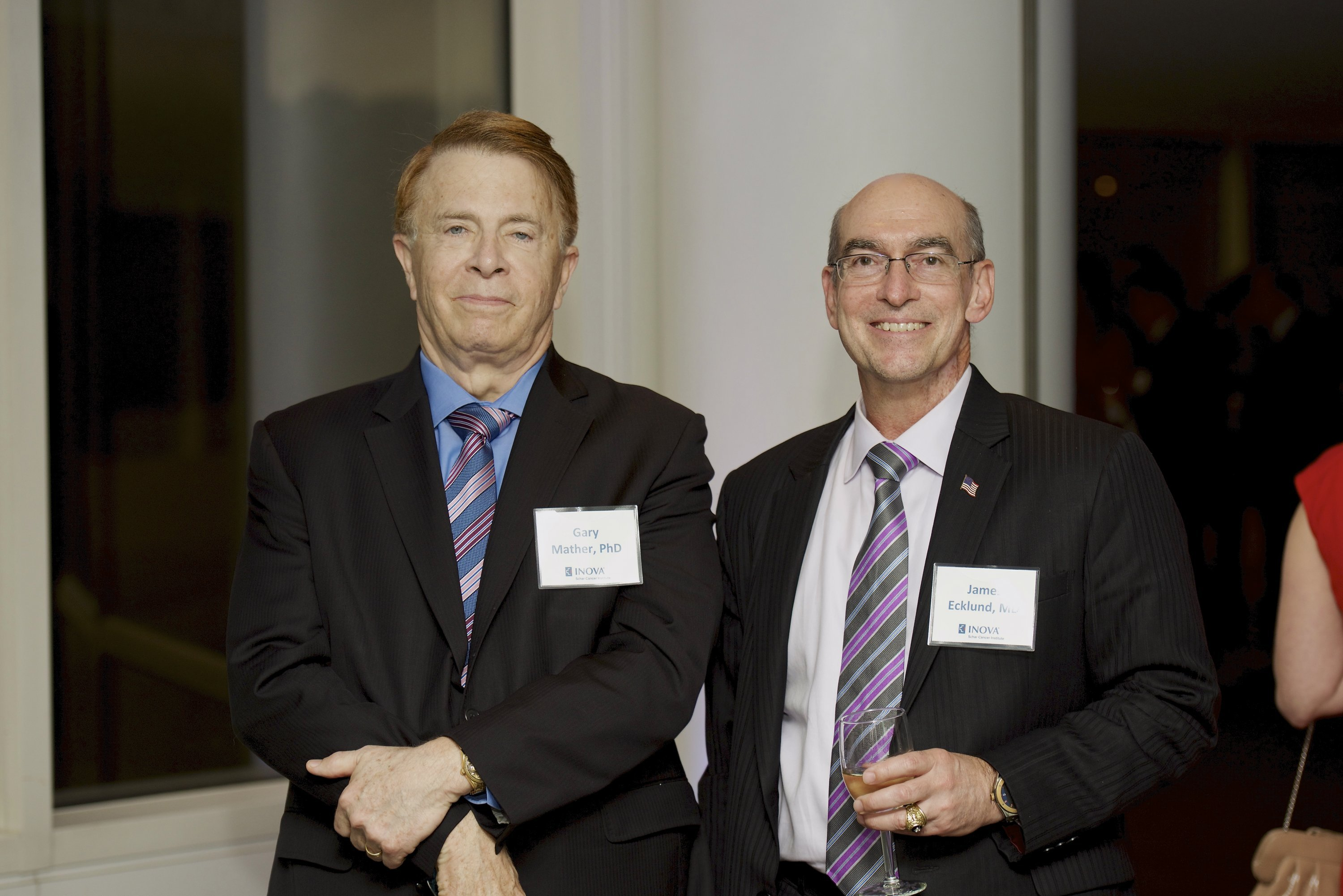 Gary Mather, PhD and James Ecklund, MD. Photograph by Sean Kelly.