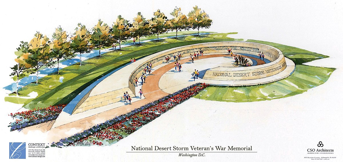 A proposal for the Desert Storm memorial.