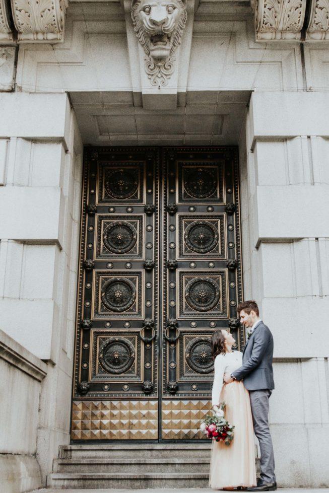 Sara Nicholes + Jacob Cooley Baltimore Courthouse Wedding Juno | Elizabeth McConeghey 12
