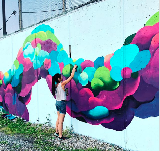 Our Favorite Works In Progress From the Pow! Wow! Mural Festival