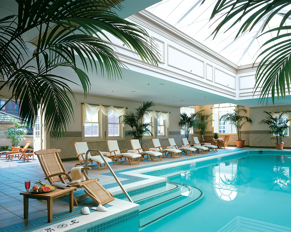 The Jefferson Hotel offers an indoor pool. Photograph of the Jefferson Hotel Courtesy of the Jefferson.