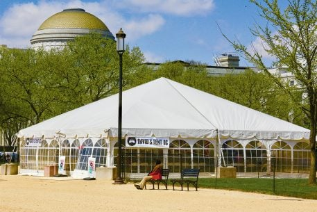 What's the Deal With That Big Evangelical-Christian Tent on the Mall?