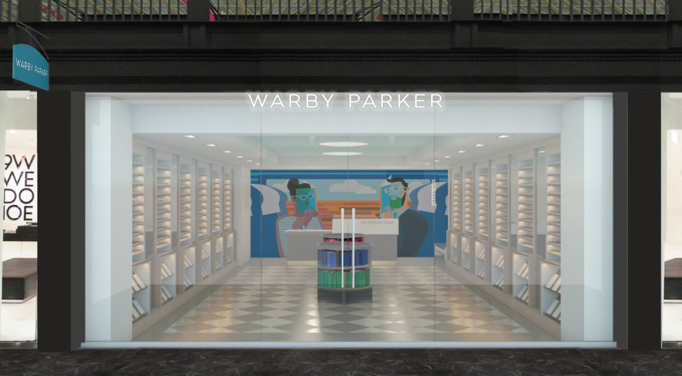 NPR Illustrator LA Johnson Created a Custom Mural for Union Station's New Warby Parker Store