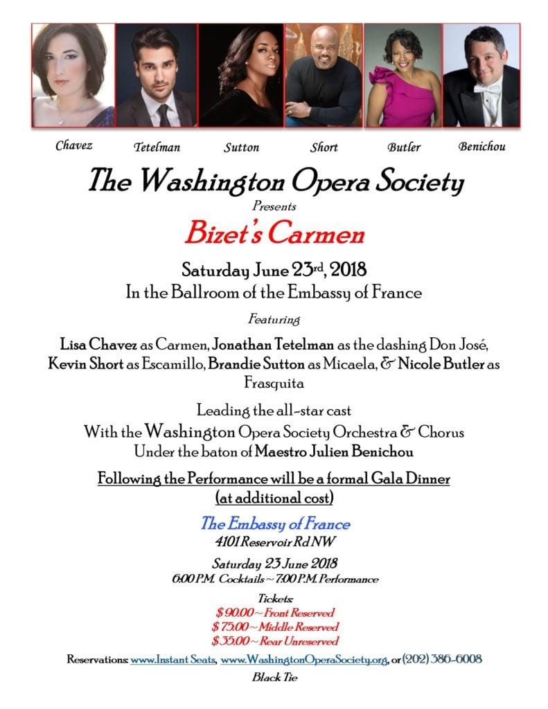 The Washington Opera Society Presents Bizet's Carmen