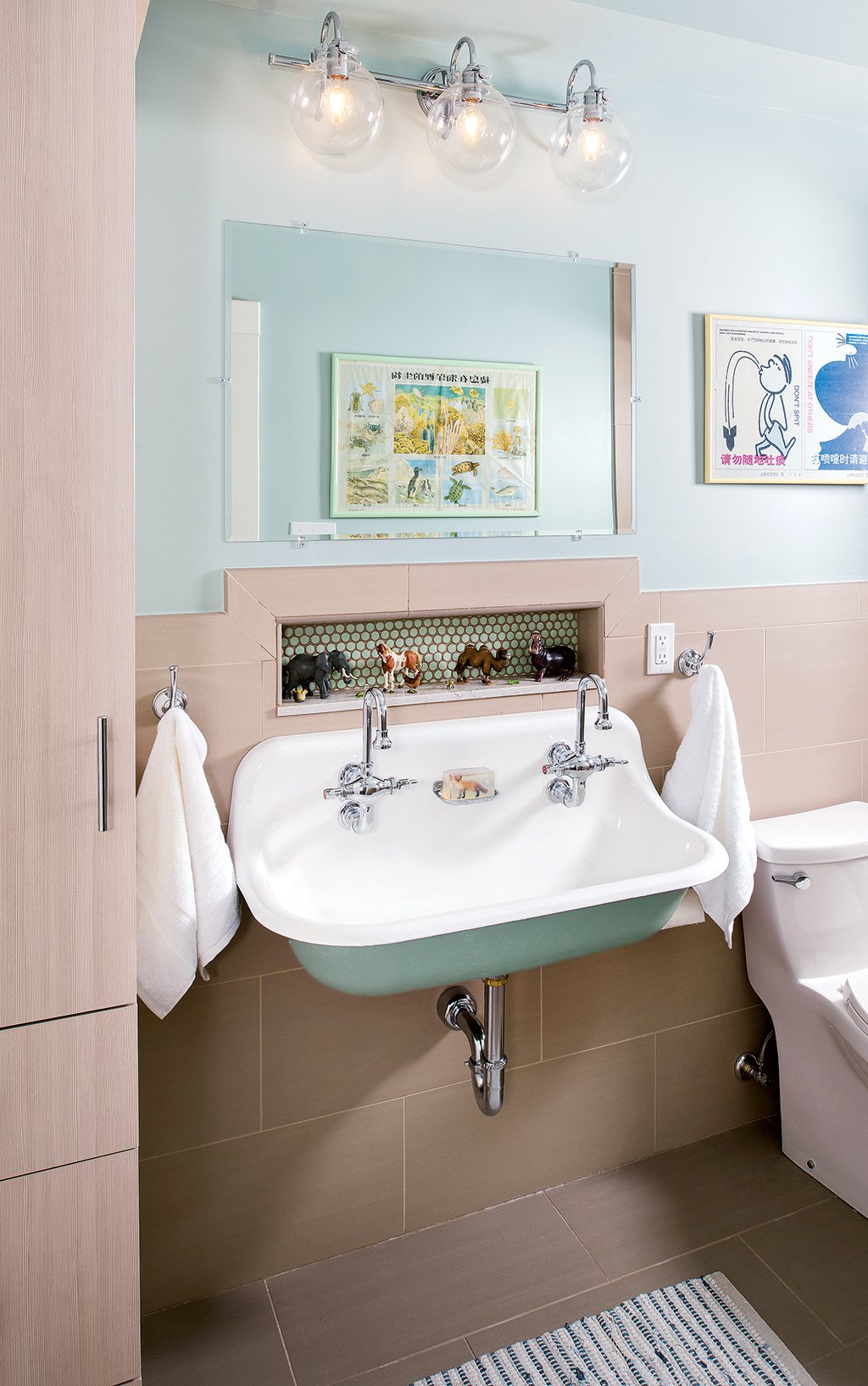 Check Out This Pair of Scandinavian-Inspired Bathroom Remodels