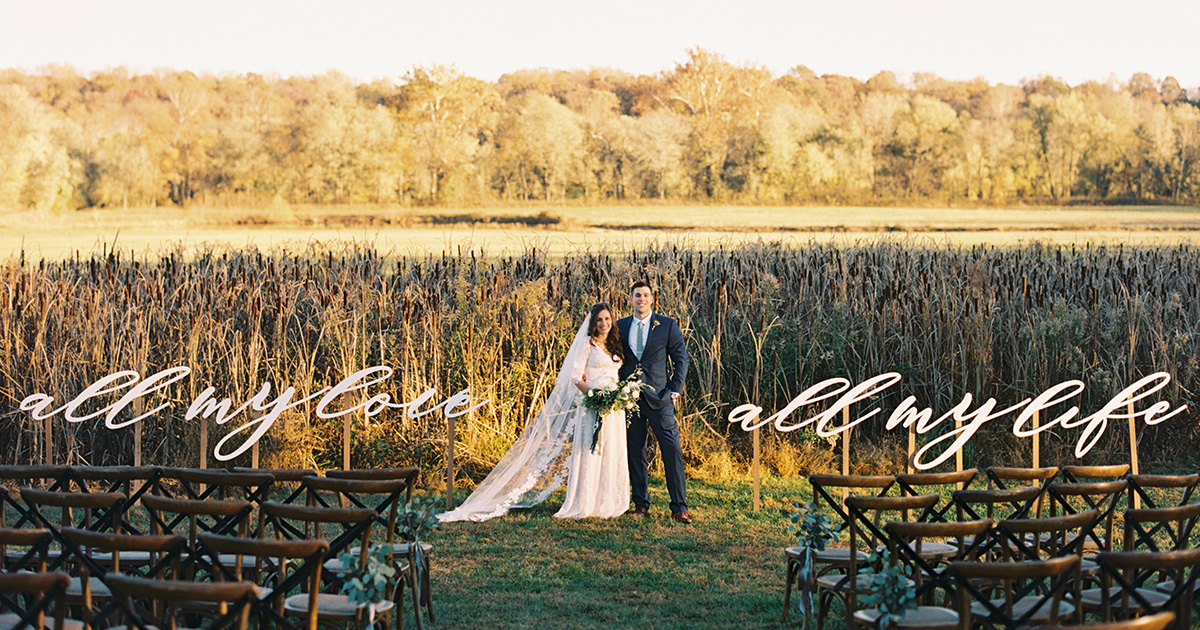 A Botanical-Themed Wedding in the Virginia Countryside Incorporated ...