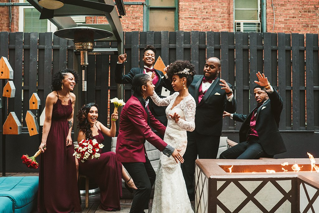 Aja Campbell + Alexis Epps Harry Potter Wedding Mason & Rook