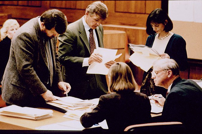 Verdict of the trial. Photograph by Jeffrey Markowitz/Sygma via Getty Images.