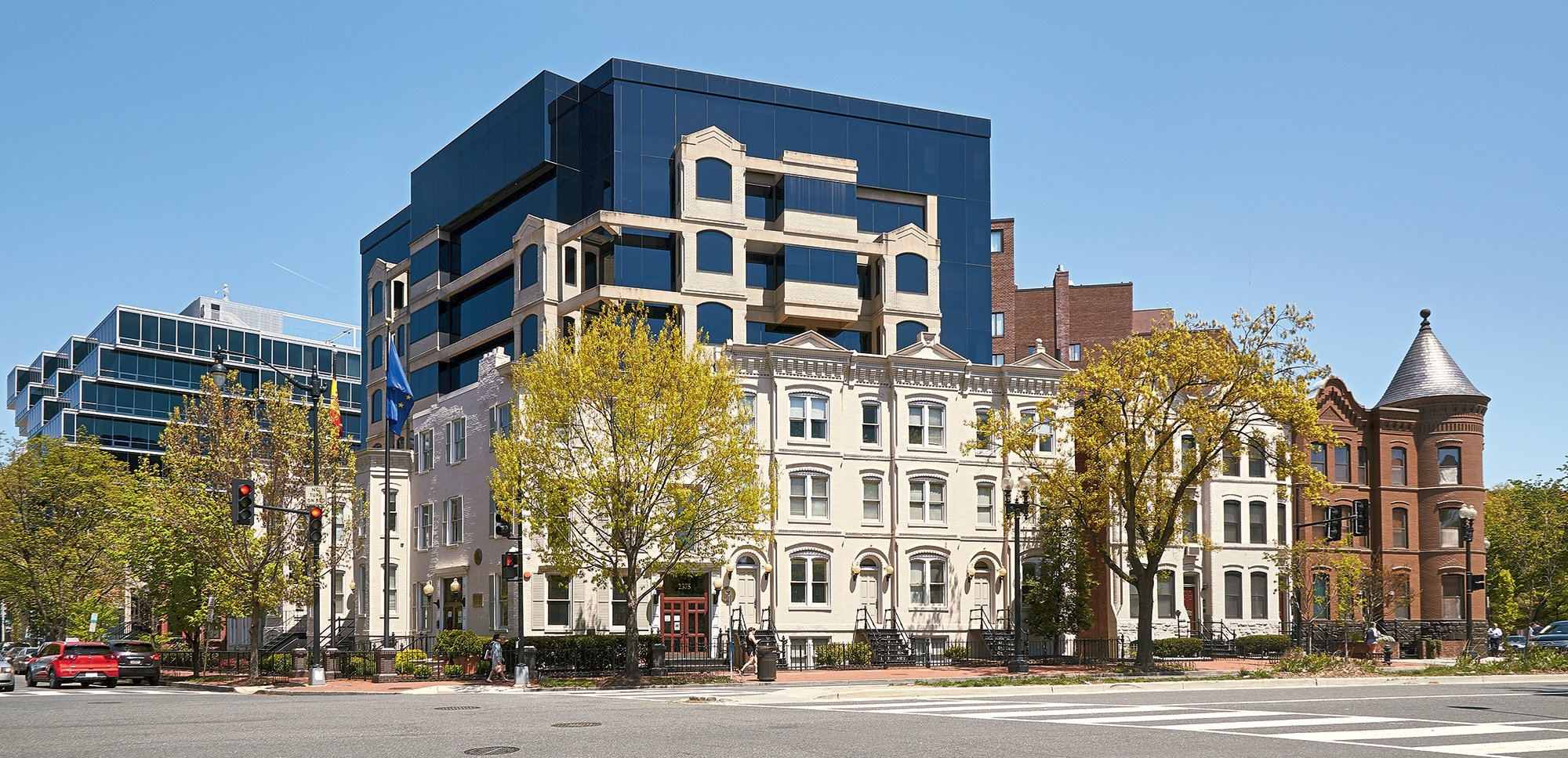 "The Spanish Embassy's stylistic jumble is a ""facadism"" misfire. Photograph by Jeff Elkins."
