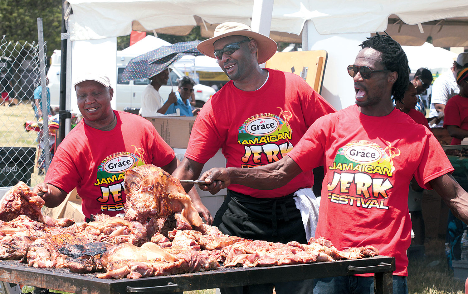 Photograph of Grace Jamaican Jerk Festival by Ajamu.