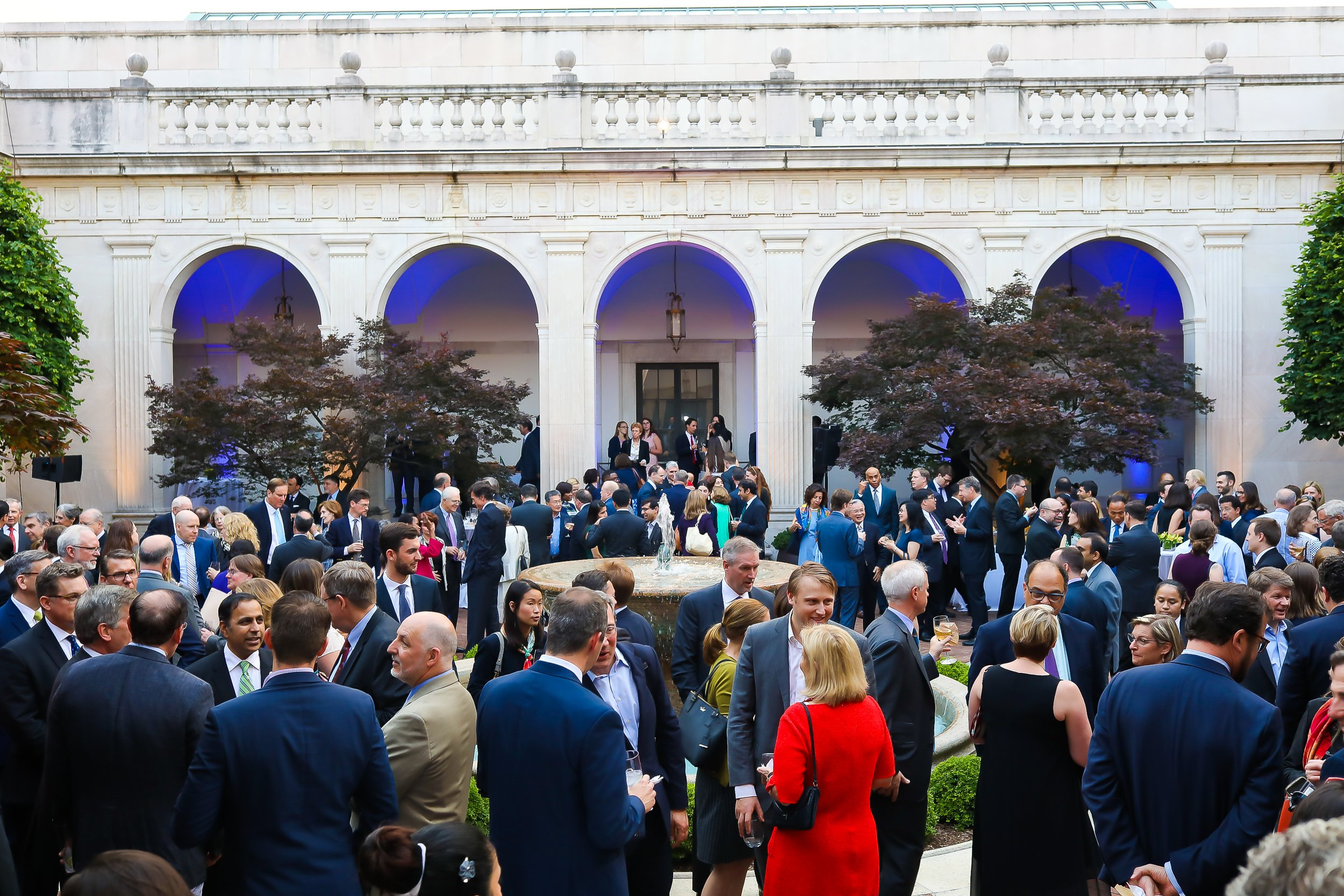 The anniversary celebration was in the Freer Gallery's courtyard.
