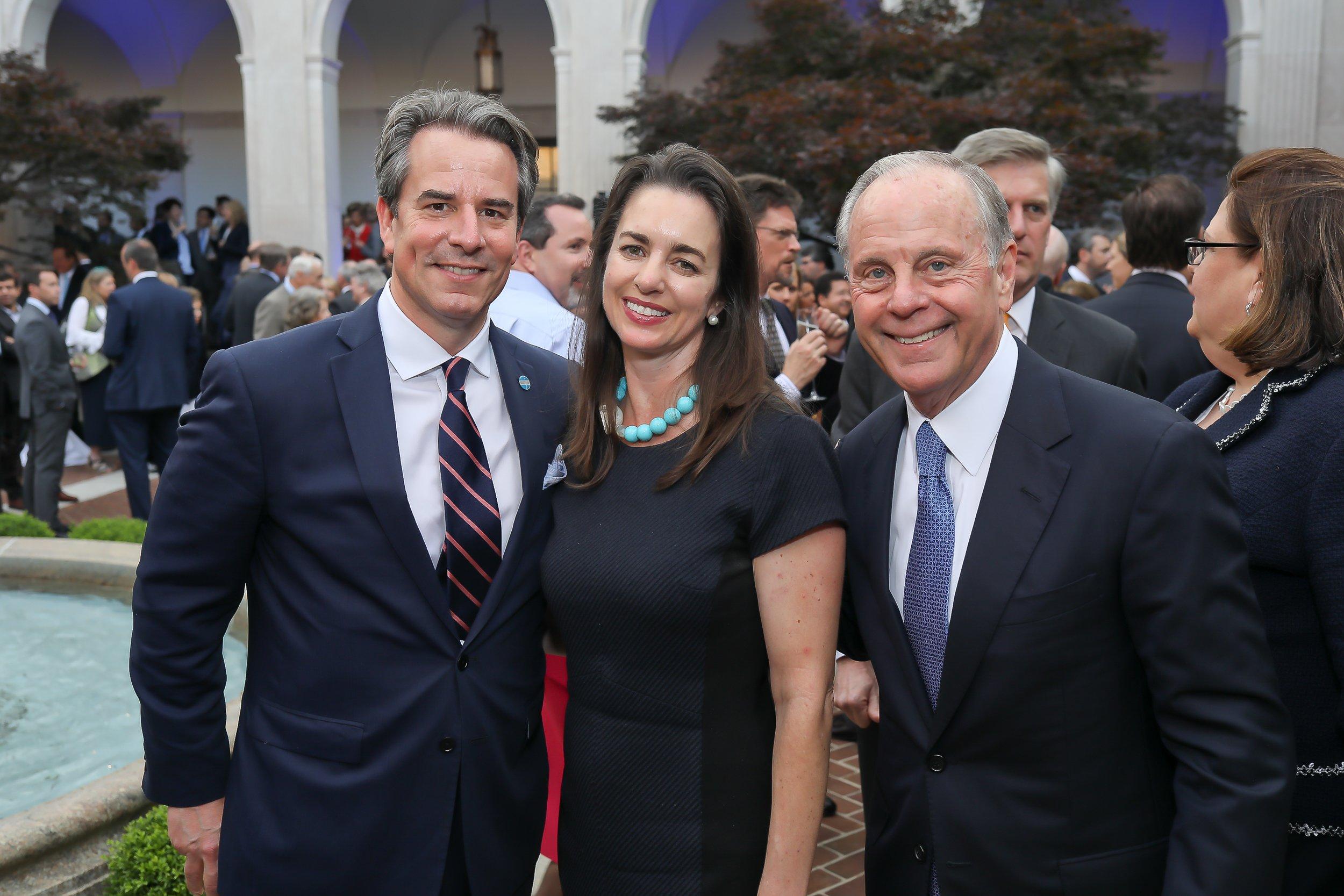 Ambassador Stuart Holliday, wife Gwen Holliday, and Mack McLarty