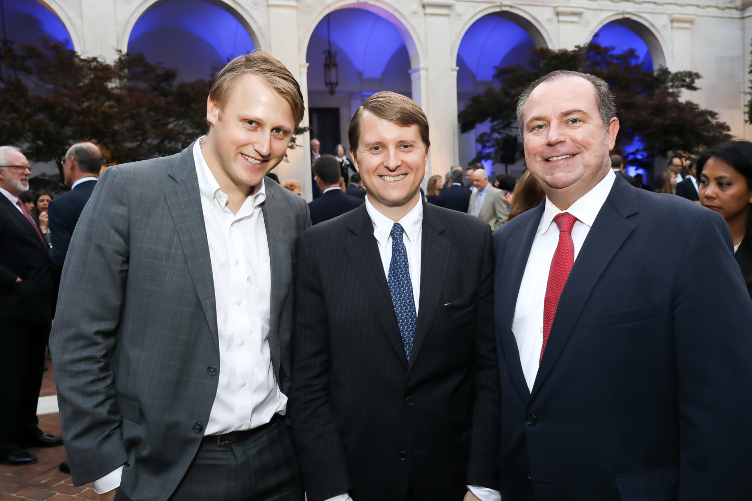Daniel Lippman of POLITICO, Christopher Nixon Cox (lawyer and grandson of President Richard Nixon), and Christopher Ruddy, CEO of Newsmax Media.