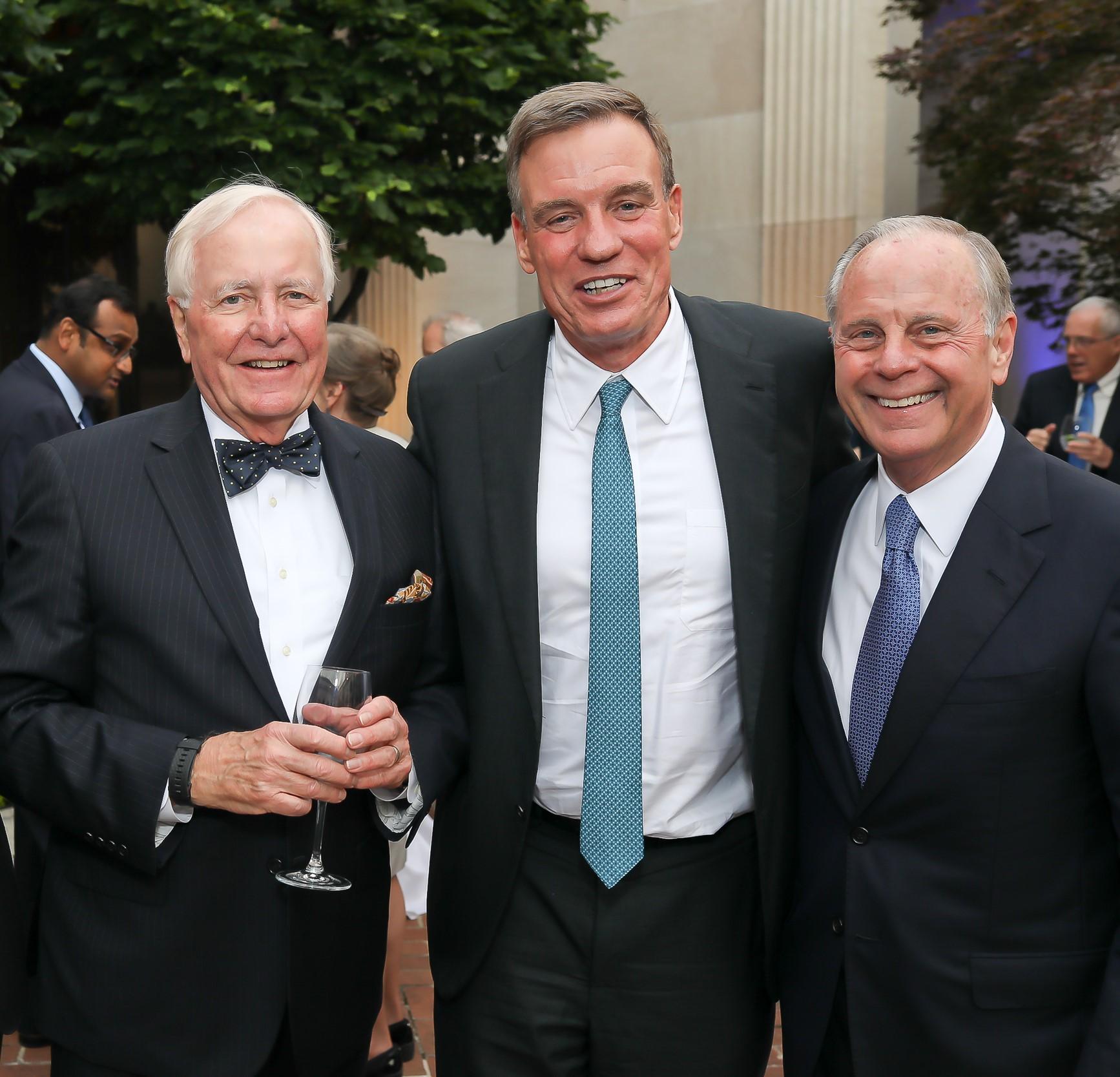 McLarty Senior Advisor John Mullen, Virginia Senator Mark Warner, Mack McLarty.