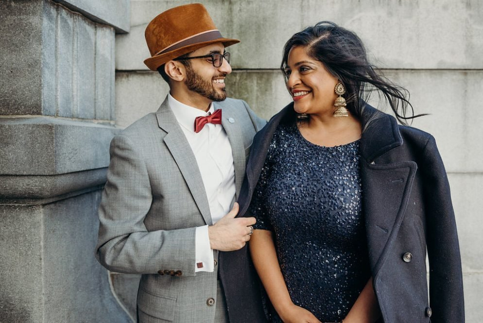 Prior to Their Traditional Wedding, This Couple Had A Playful Engagement Shoot at the Library of Congress
