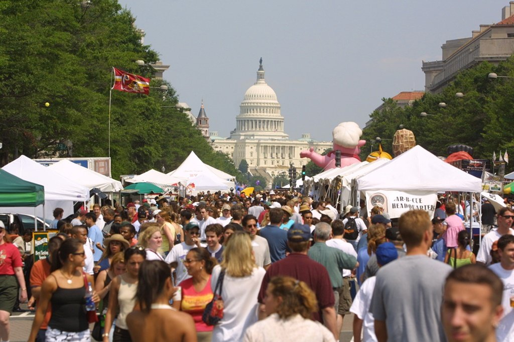 The 2018 Giant National Capital Barbecue Battle runs on Saturday and Sunday on Pennsylvania Avenue. Photo courtesy Giant National Capital Barbecue Battle.