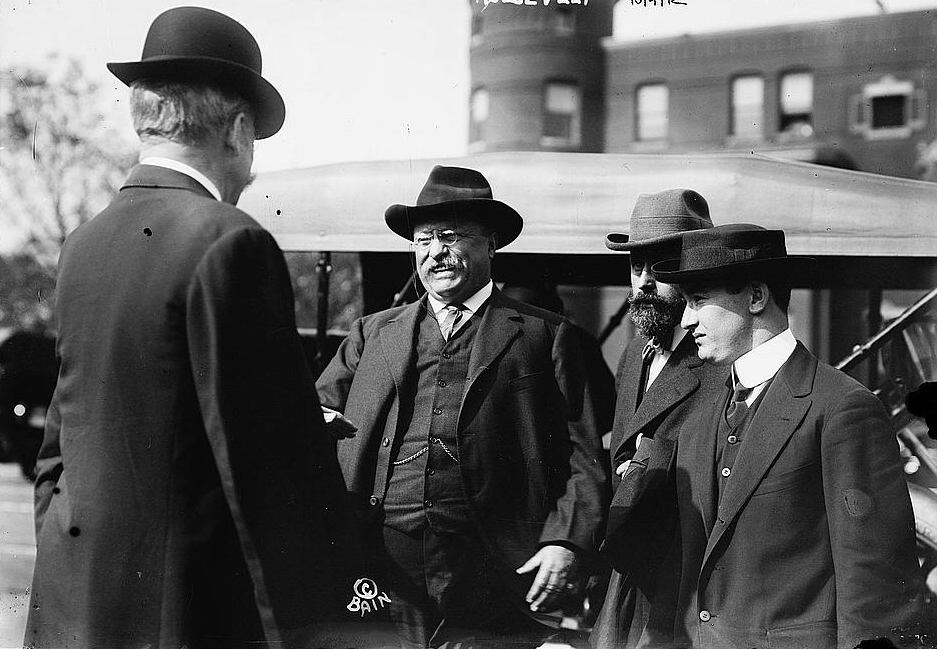 U.S. President Teddy Roosevelt shortly before the Oct. 14 assassination attempt by John F. Schrank. Photograph via Flickr Commons project, 2008.