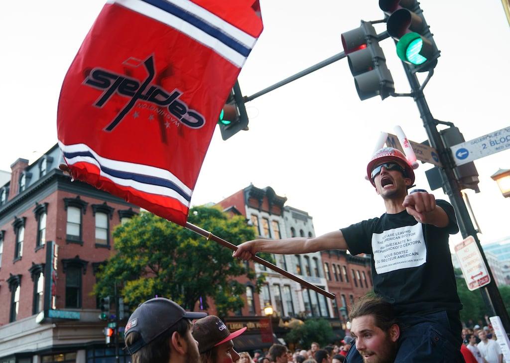 Capitals fans poles