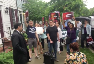 """Let's Wake Her Up"": How the Protest at Kirstjen Nielsen's House Came Together So Quickly"