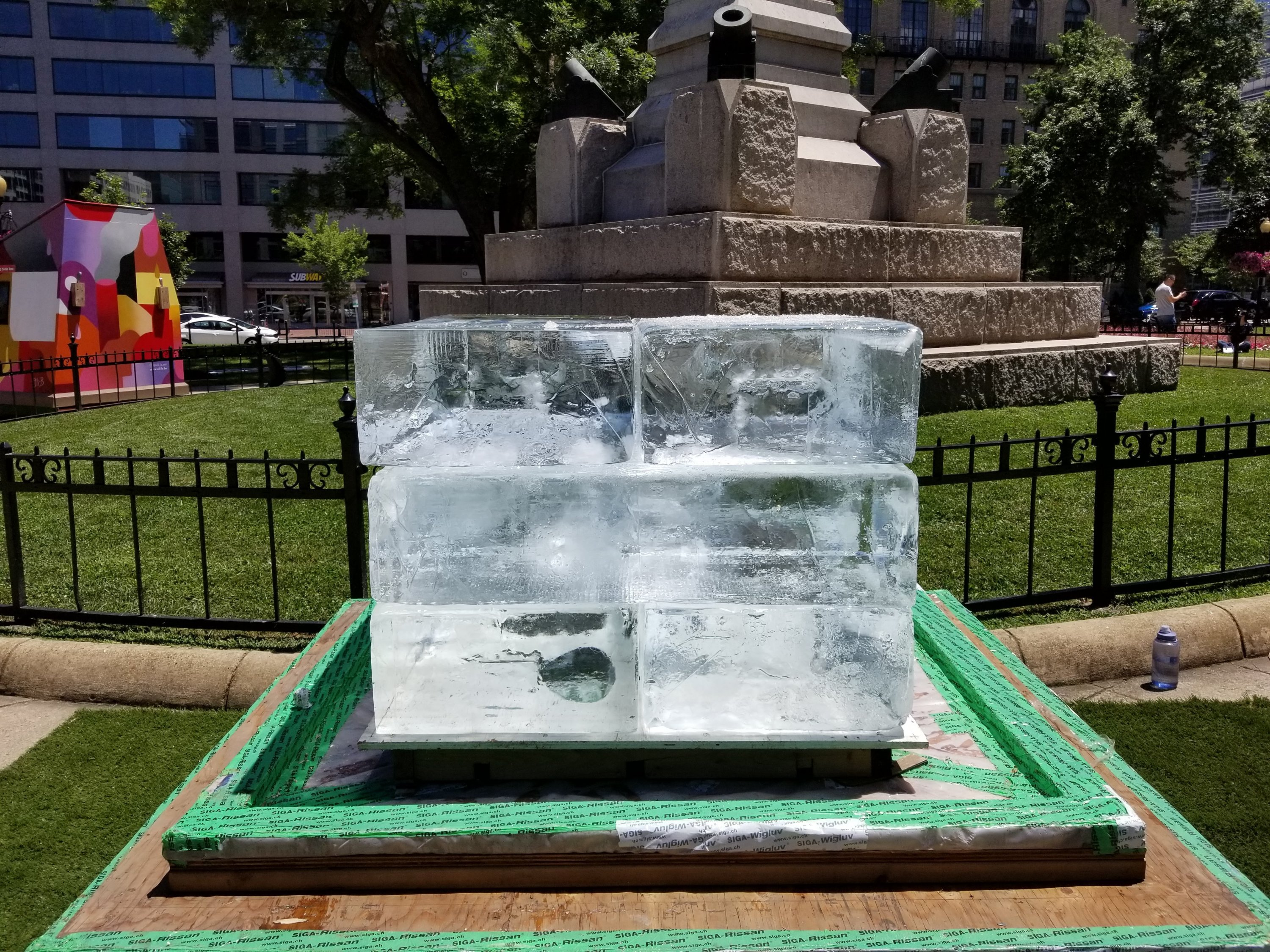 Europeans Have Brought Thousands of Pounds of Ice to a DC Park to Make Americans Feel Bad