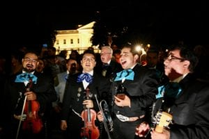 The Latest Trump-Protest Tactic: Mariachi Music