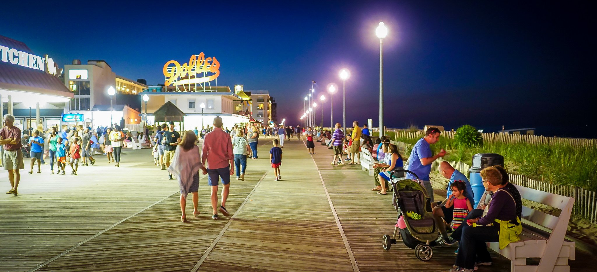 Rehoboth Beach boardwalk. Photograph by Ted Eytan from Unsplash.