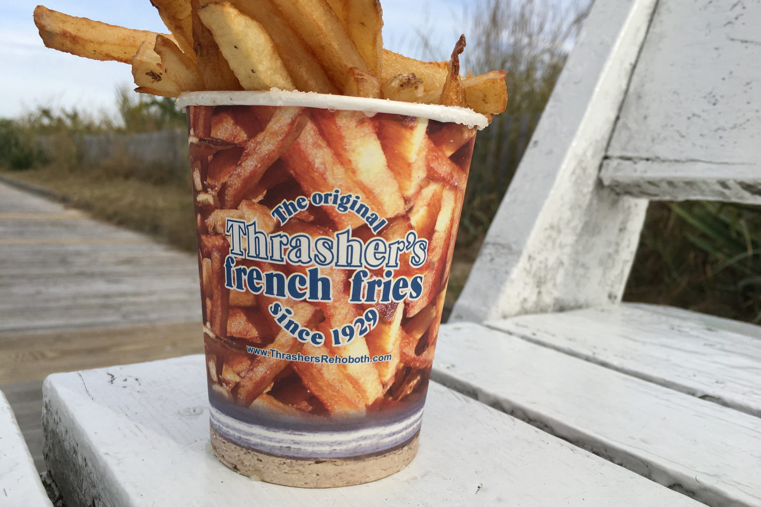 Fries from Thrasher's. Photograph by Michele Dorsey Walfred from Flickr Creative Commons.