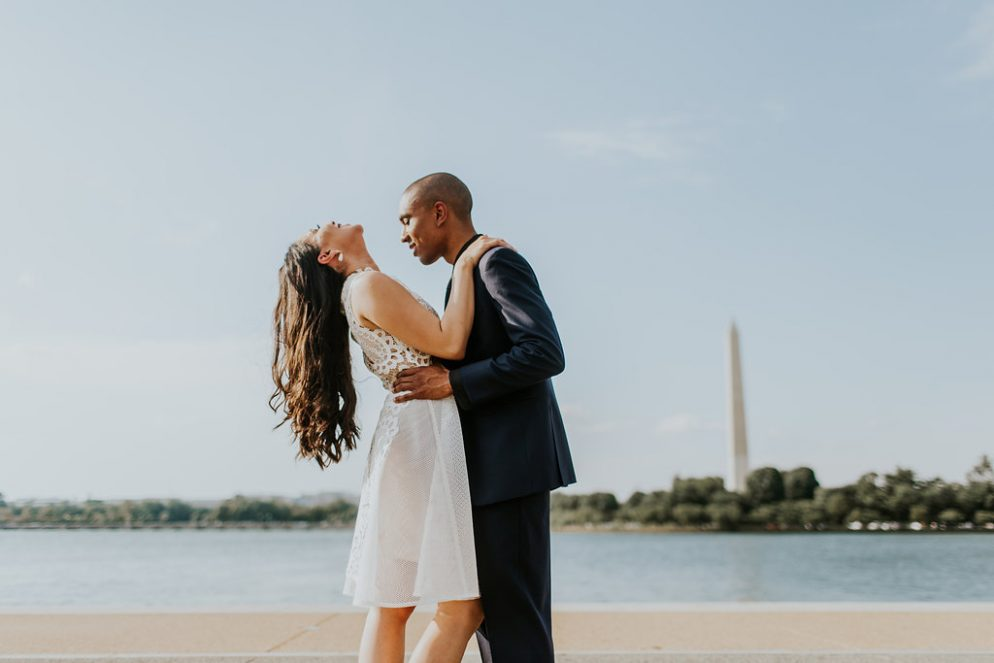 A First Date at New Orleans Famed Café Du Monde Led to These Nurses' Ultra-Stylish DC Engagement