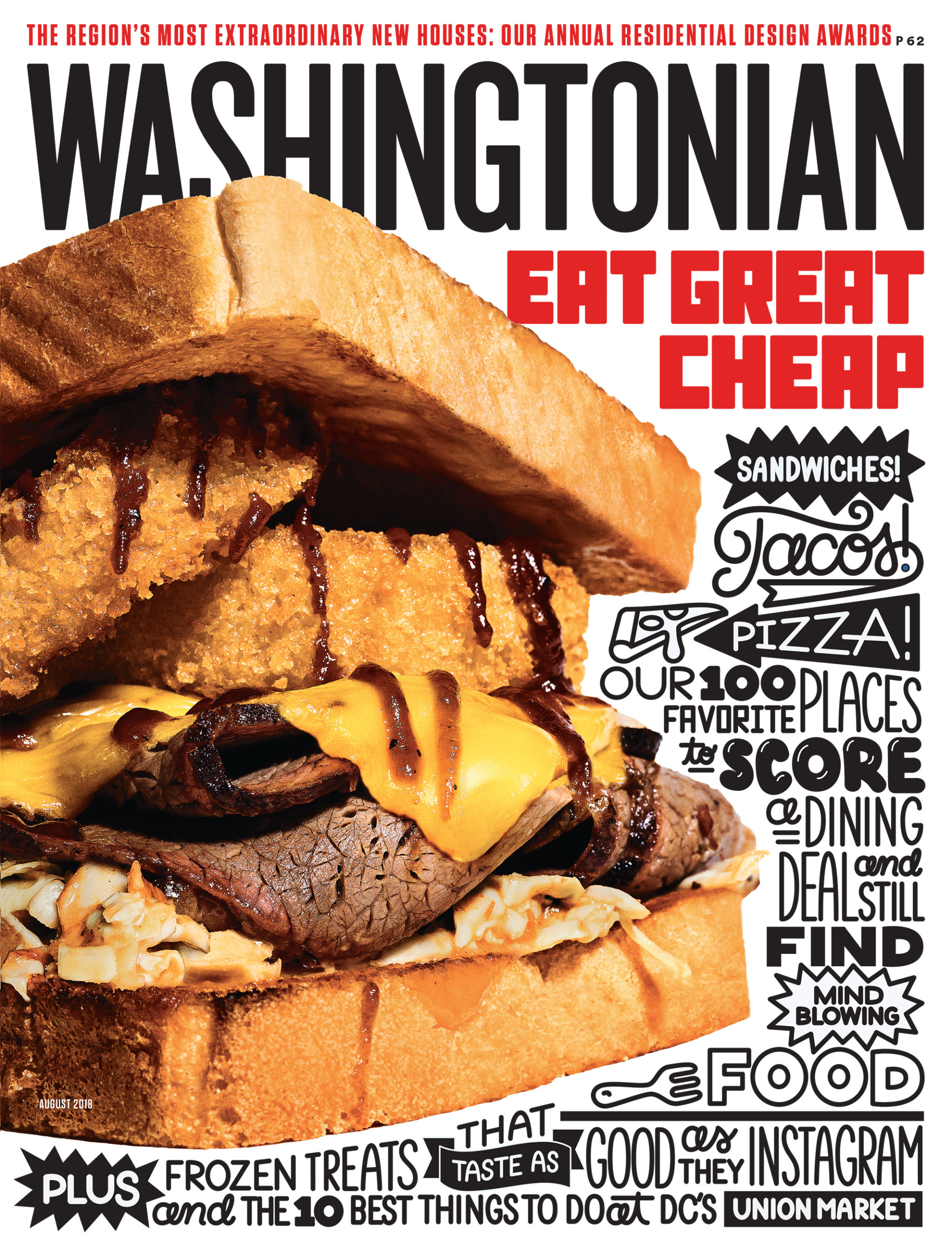 "Photograph of ""District Z"" sandwich by Scott Suchman. Shot on location at District BBQ in Vienna. Lettering by Timothy Goodman."